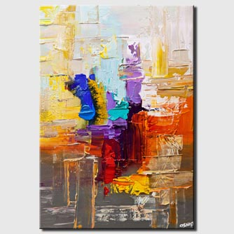 colorful textured abstract art