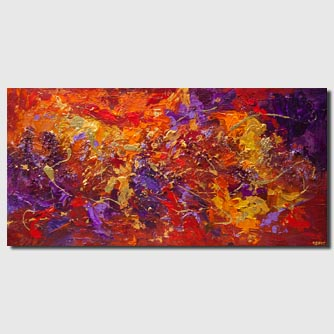 red gold textured abstract painting modern