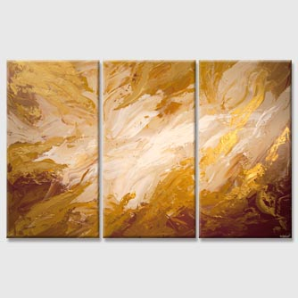 big gold marble abstract painting