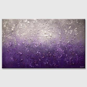 modern textured purple gray abstract painting