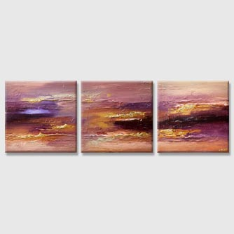 large textured modern gold purple abstract painting