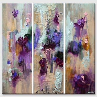 modern colorful palette knife abstract painting