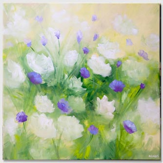 soft floral abstract painting
