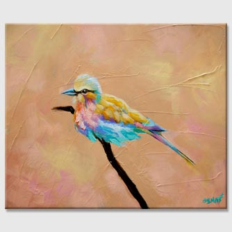 colorful bird abstract painting