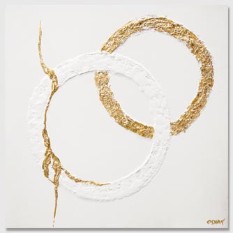 white gold abstract painting textured modern