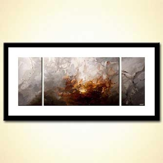 triptych modern home decor art