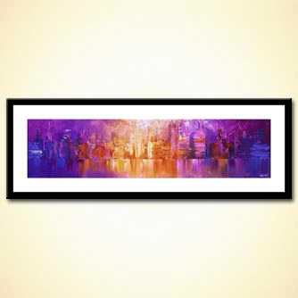 horizontal painting of new york skyline