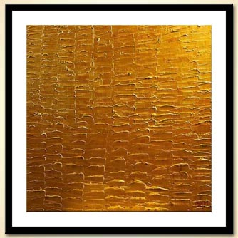 abstract golden square painting