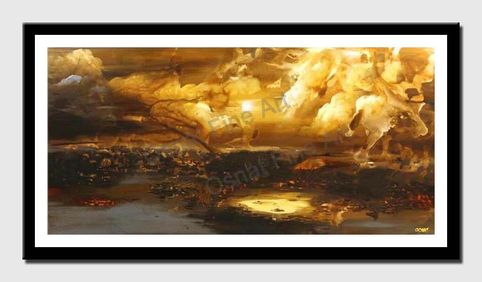 canvas print of genesis abstract landscape painting