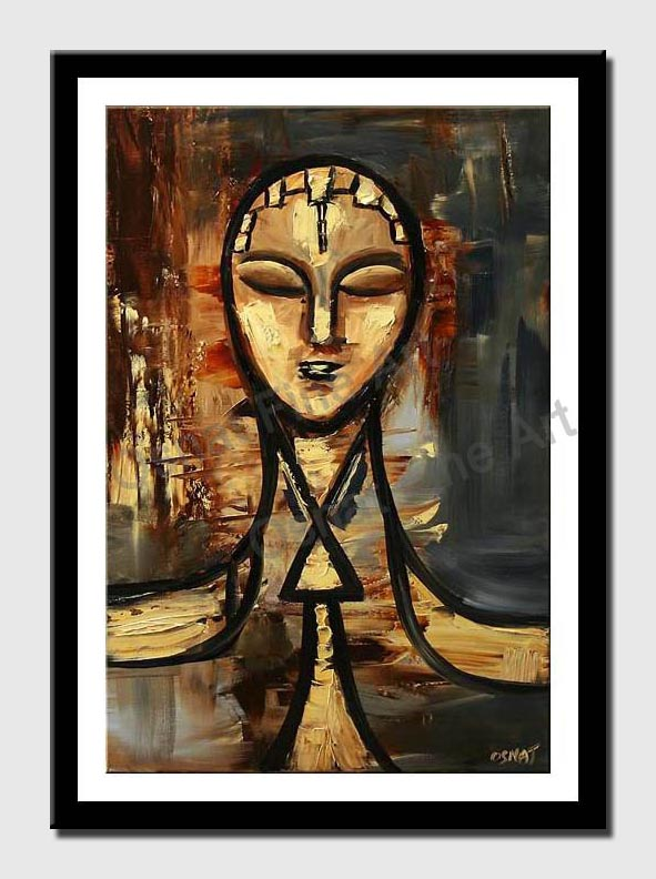 canvas print of abstract face painting