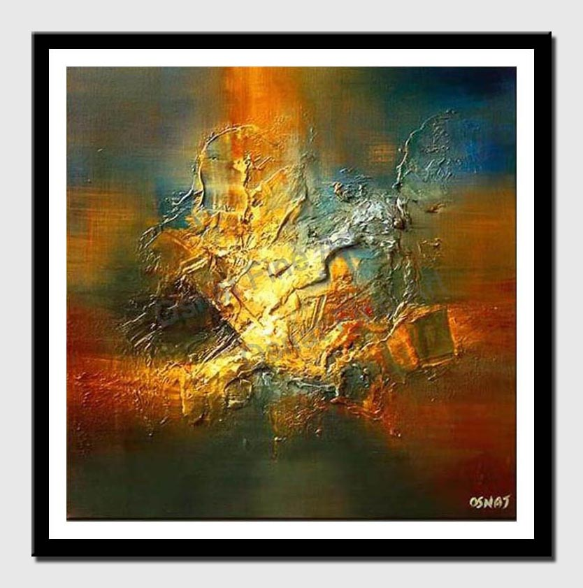 canvas print of glowing textured painting