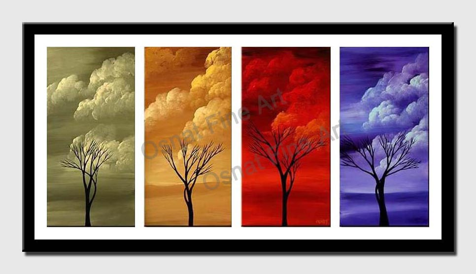 canvas print of clouds in four seasons