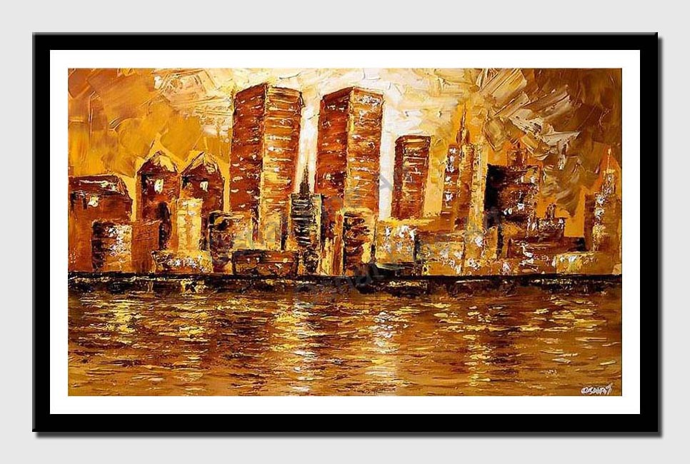 canvas print of new-york skyline twin towers