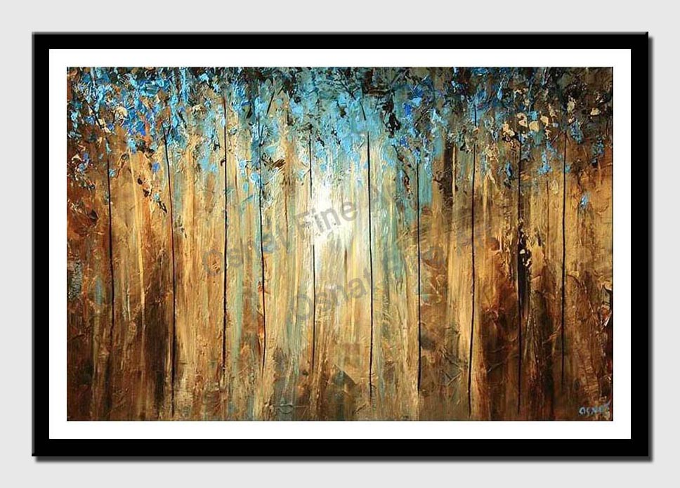 canvas print of dense forest