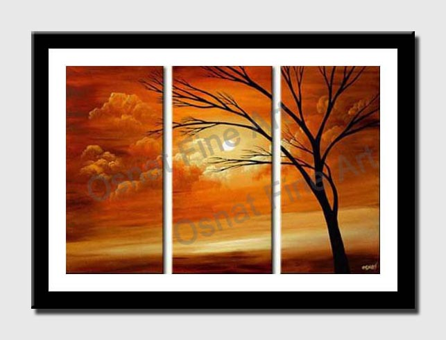 canvas print of beautiful sunset painting