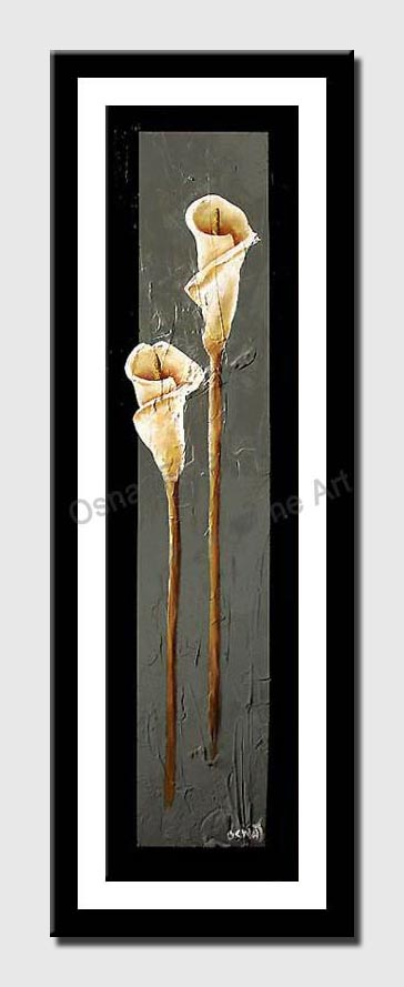 canvas print of vertical painting of lillies