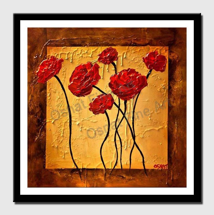 canvas print of red roses