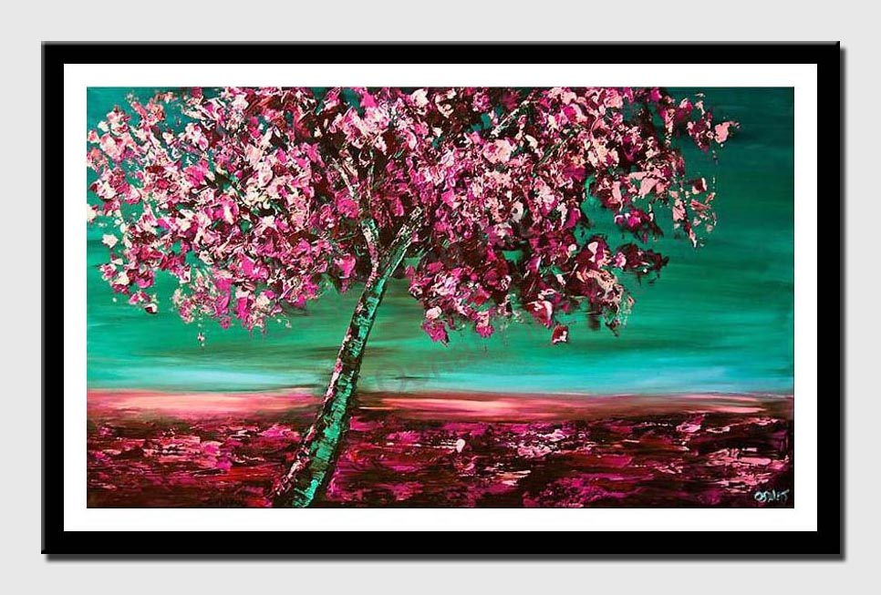 canvas print of cherry blossom tree