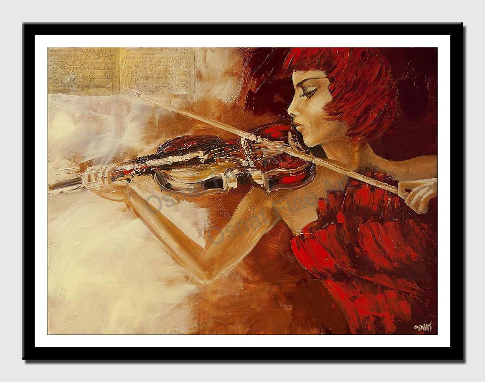 canvas print of woman playing violin
