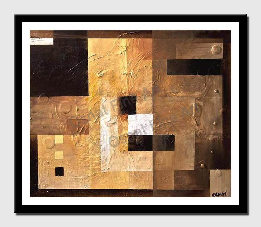 canvas print of abstract painting of squares