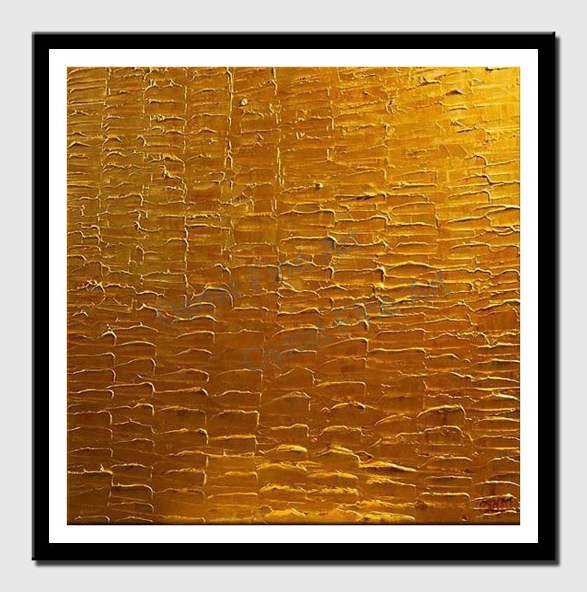 canvas print of abstract golden square painting