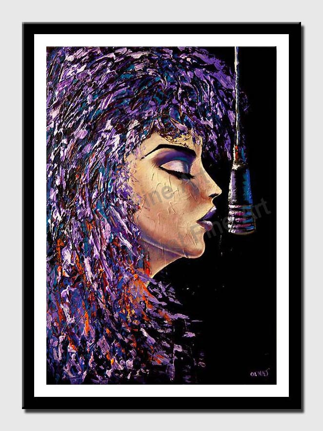 canvas print of rock singer painting