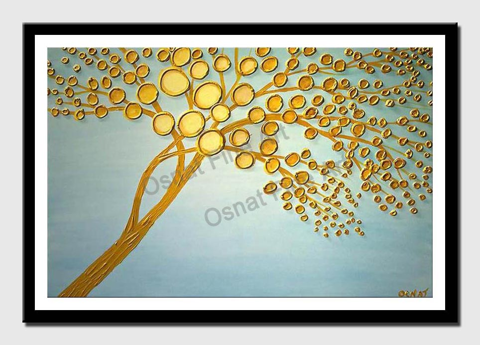 canvas print of abstract apple tree
