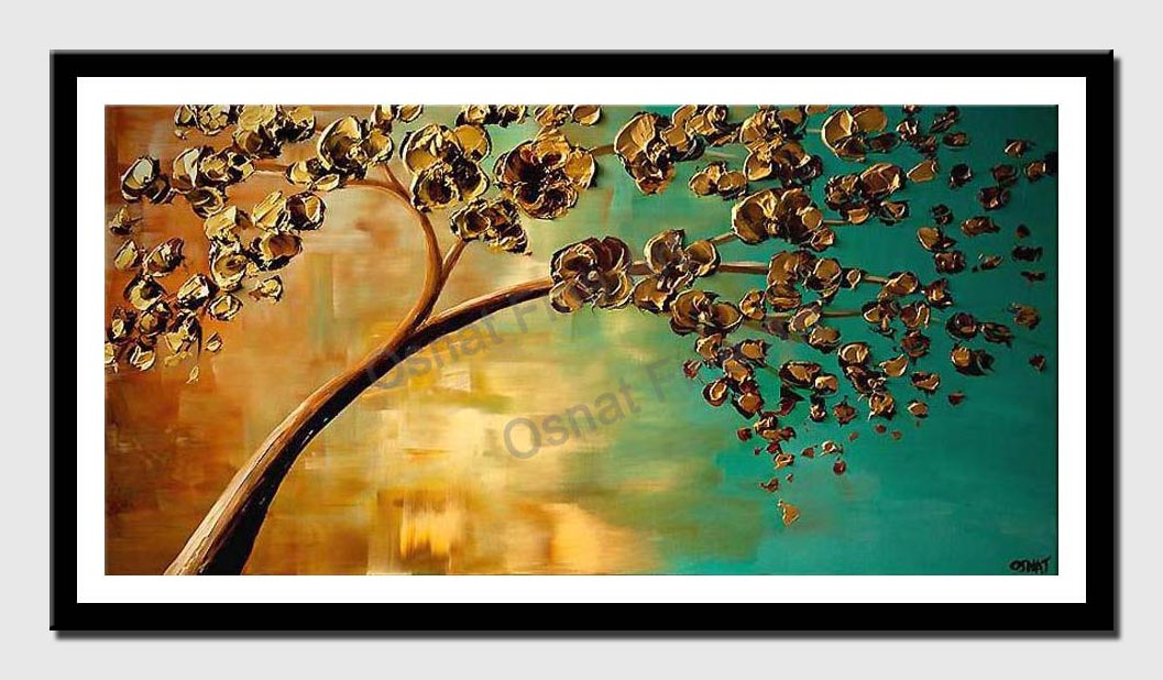 canvas print of yellow flowering tree