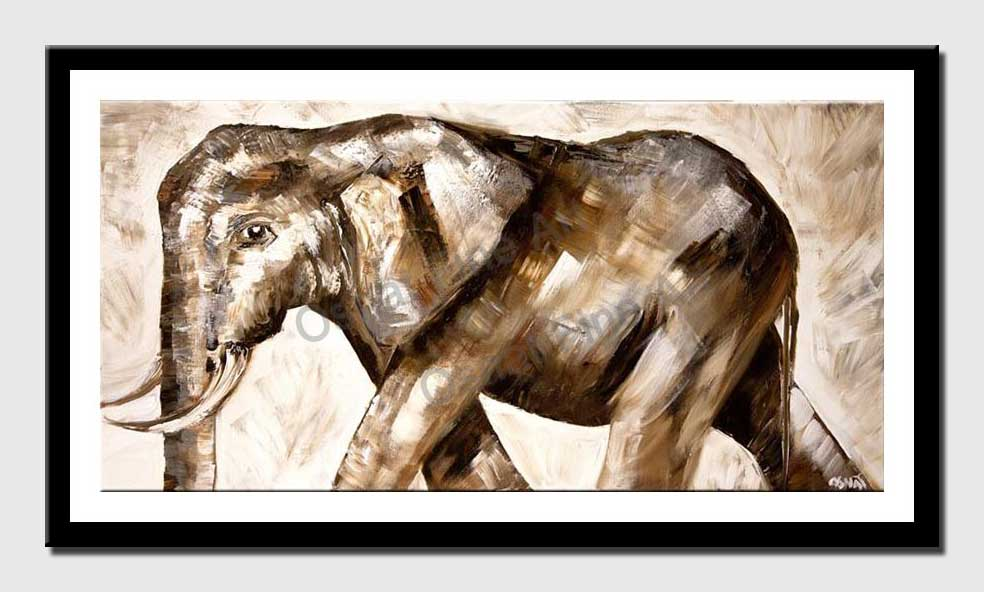 canvas print of elephant painting