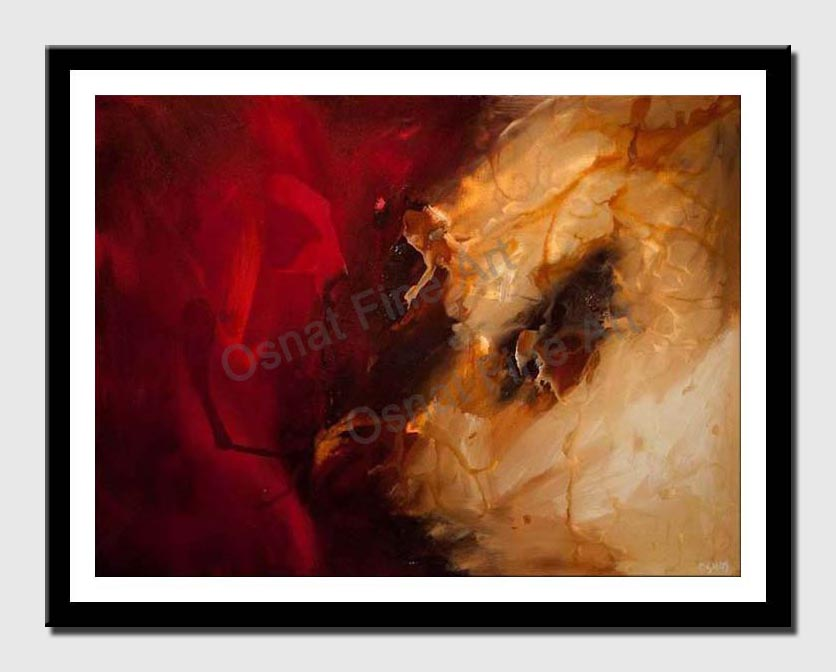 canvas print of Large red abstract painting