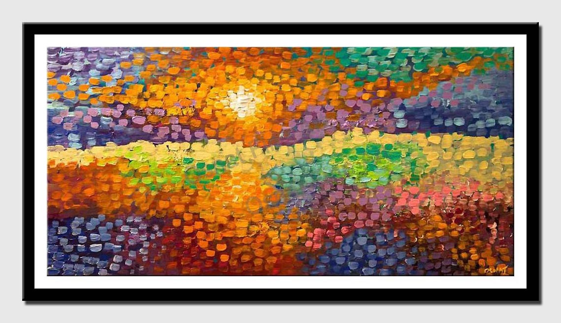 canvas print of colorful abstract fields landscape painting