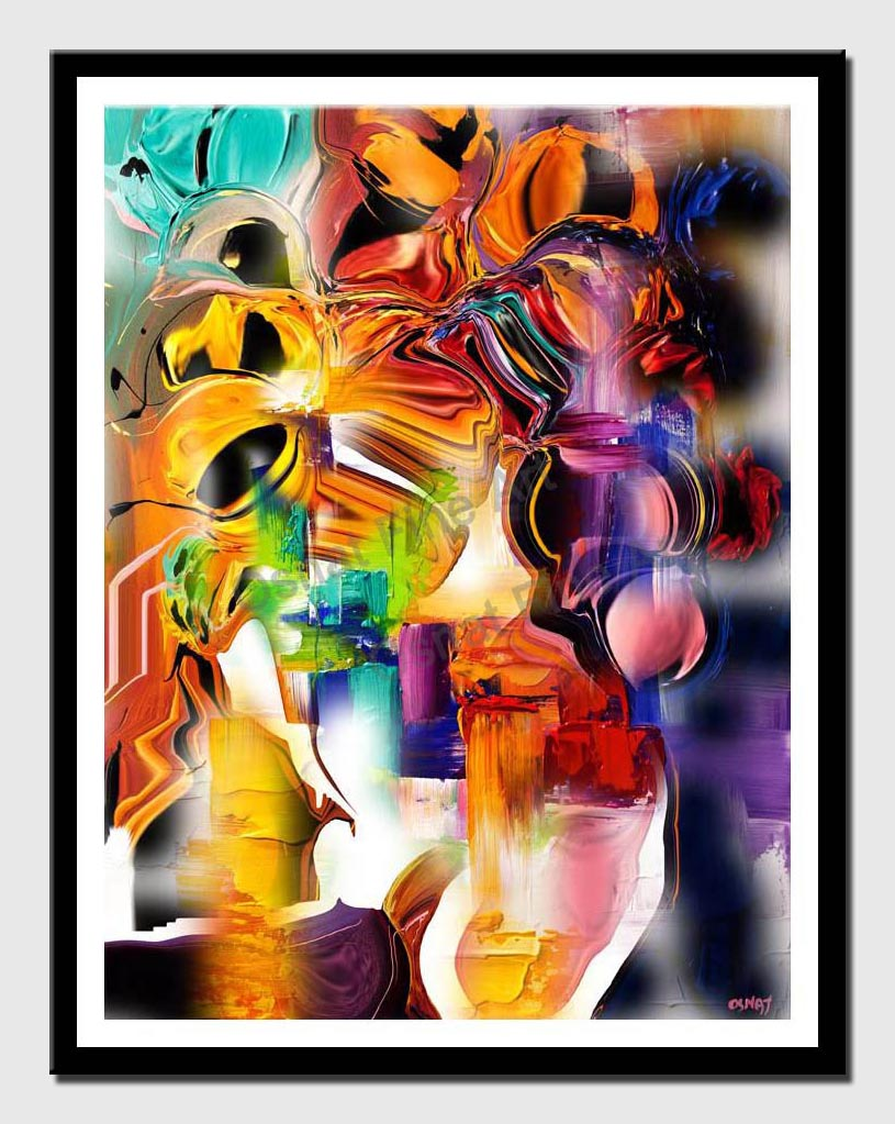 canvas print of colorful abstract print on canvas