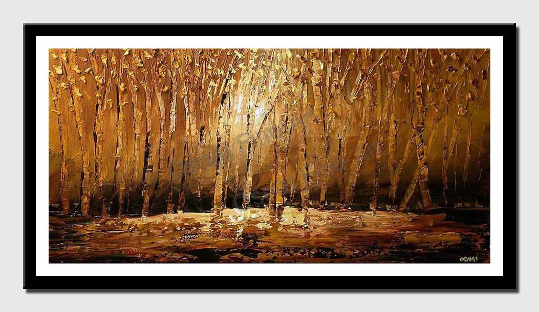 canvas print of forest in autumn time