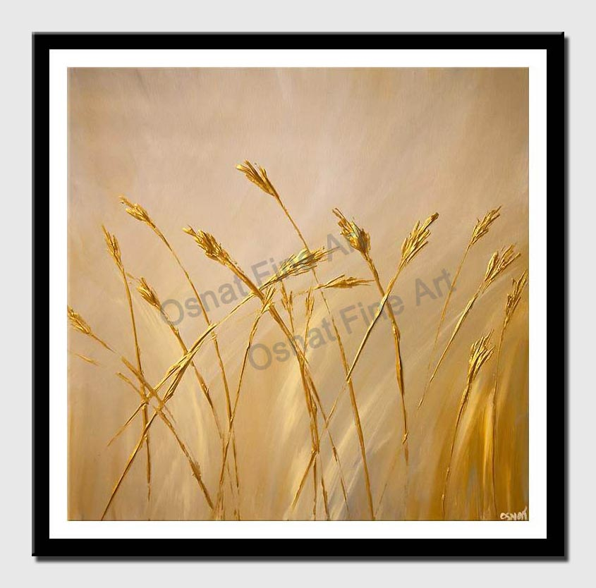 canvas print of Gold textured abstract painting