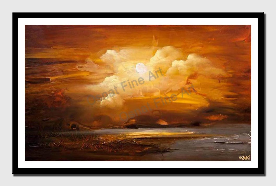 canvas print of earthtone landscape modern abstract painting