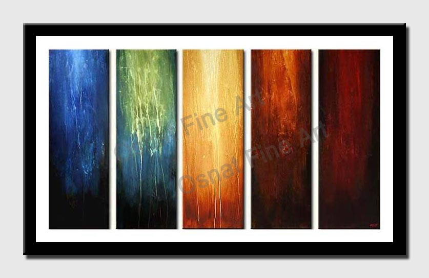 canvas print of multi panel modern painting