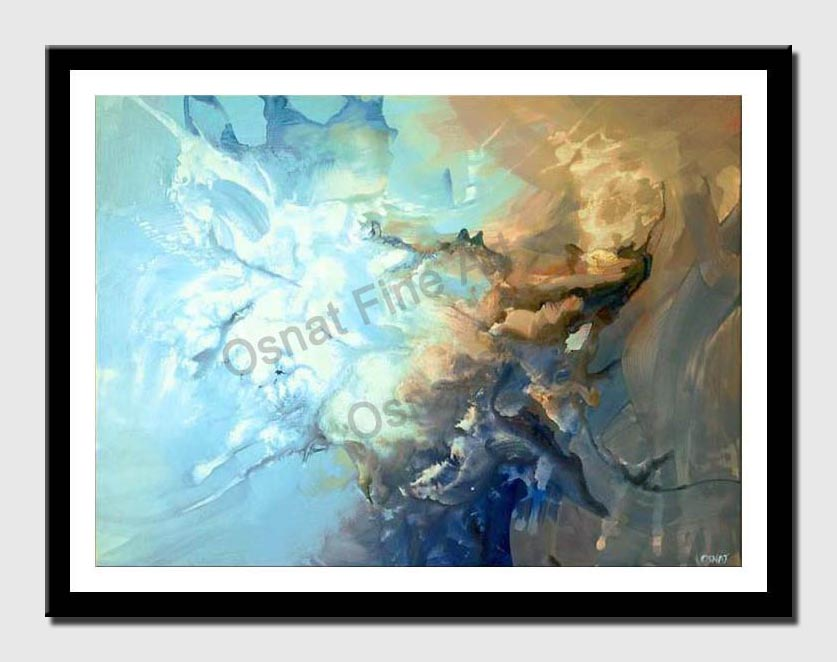 canvas print of modern art blue abstract painting