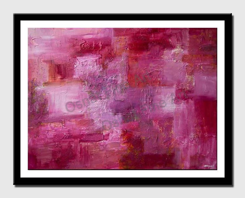 canvas print of pink abstract painting textured modern contemporary palette knife