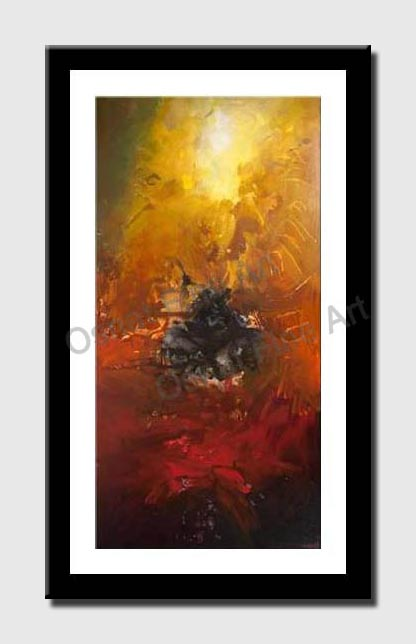 canvas print of huge abstract painting contemporary art