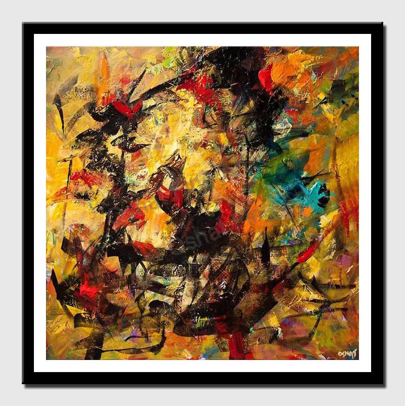 canvas print of large colorful contemporary abstract painting