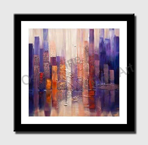 canvas print of downtown painting
