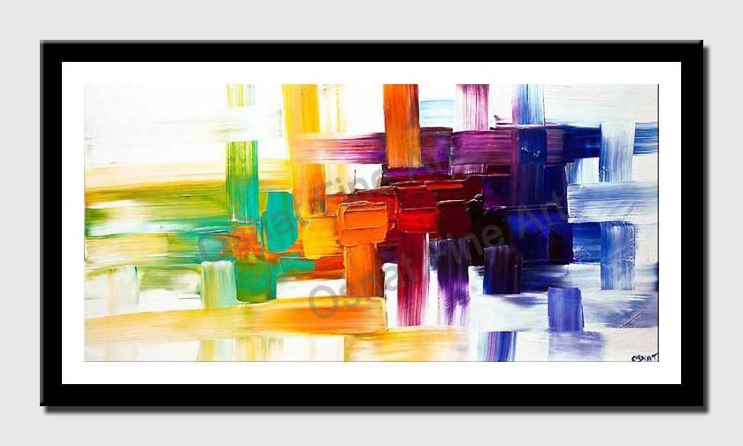 canvas print of colorful abstract art
