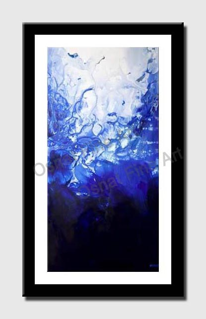 canvas print of blue abstract painting home decor