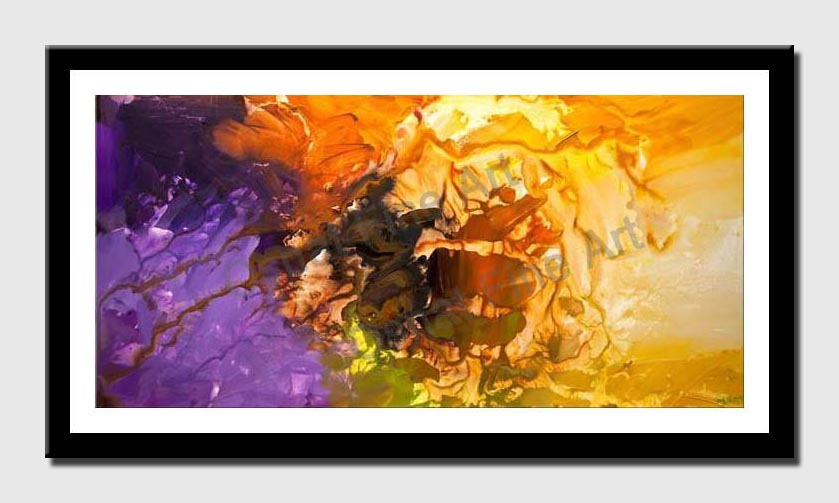 canvas print of original colorful abstract painting home decor art deco