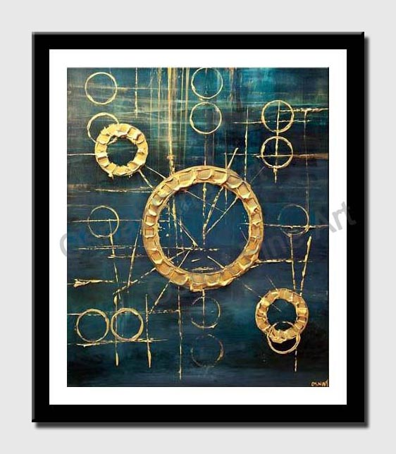 canvas print of original contemporary modern blue abstract art home decor