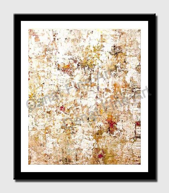 canvas print of white modern abstract art heavy texture modern palette knife home decor