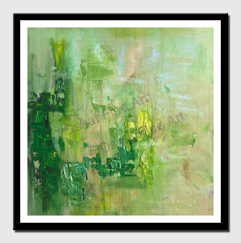 canvas print of green modern textured abstract art home decor