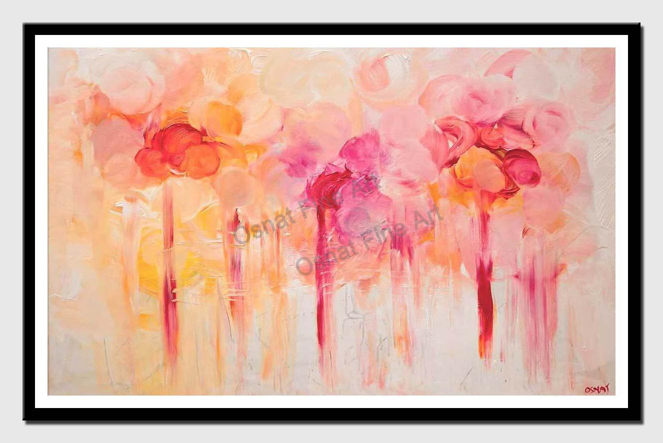 canvas print of colorful floral painting home decor