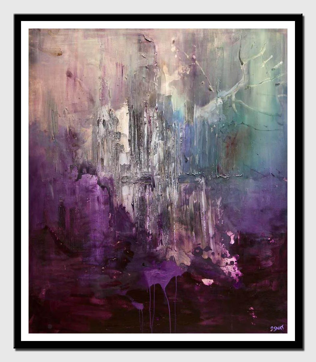 canvas print of purple abstract art home decor