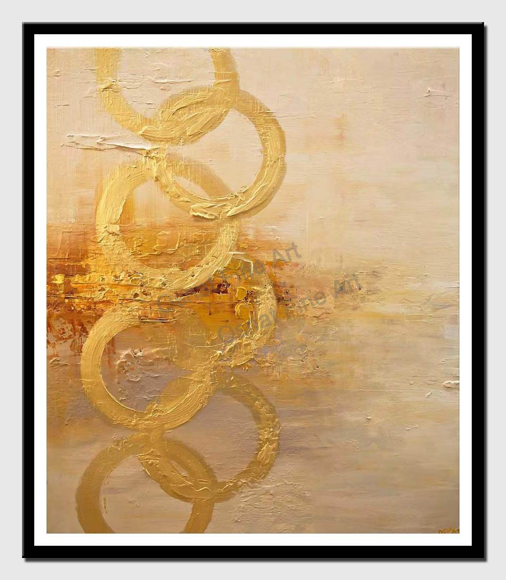 canvas print of contemporary textured golden abstract art